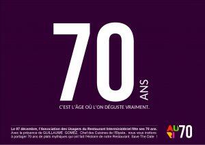 70 ans auri événement