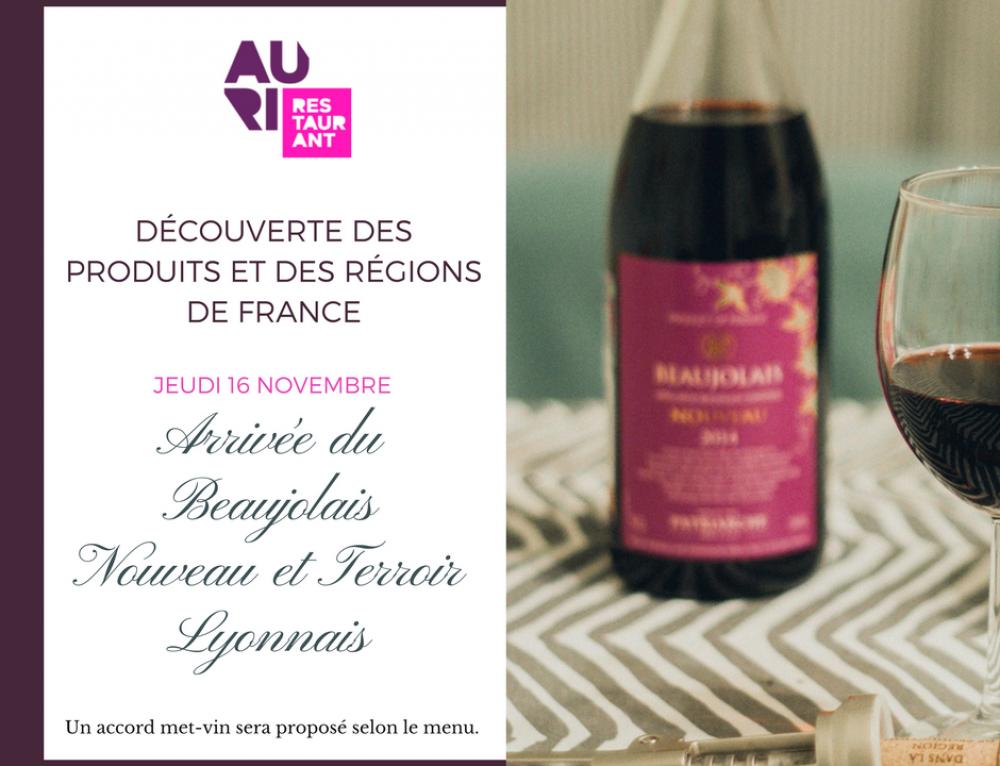 Menu à thème : Arrivée du Beaujolais Nouveau et Terroir Lyonnais